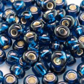 Preciosa Czech glass seed bead 5/0 Steel Blue silver Lined