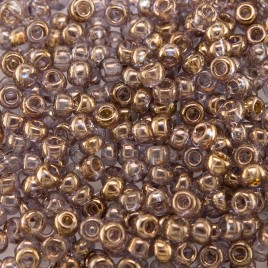 Preciosa Czech glass seed bead 9/0 Dawn Luster Metallic coated