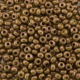 Preciosa Czech glass seed bead 9/0 Olivine/Bronze Colour Lustered