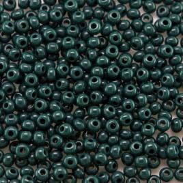 Preciosa Czech glass seed bead 11/0 Dark Green