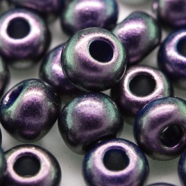 Purple Grape metallic coated glass bead, size 32/0 seed bead - Retail system