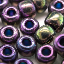 Purple Iris Metallic 32/0 seed beads - Retail system