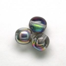Rainbow dream 6mm round Czech glass druk beads