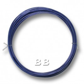 "Sapphire coloured, nylon coated 0.45mm/.018"" Dia.7x1 Tigertail"