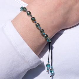 Sea green Macramé Symmetry Bead Bracelet