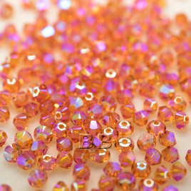 Steely Spirit Sunset Preciosa Seed Bead and Swarovski® Bicone Colorway