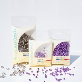 Steely Spirit Violet Preciosa Seed Bead and Swarovski® Bicone Colorway
