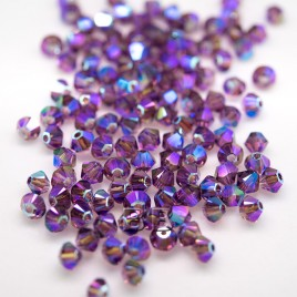 Steely Spirit Violet Preciosa Seed Bead and Swarovski® Bicone Colorway