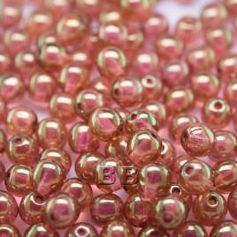 Sugar Coral Iridescent Lustre 6mm round Czech glass druk beads - Retail system