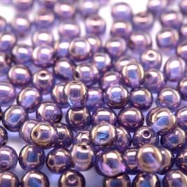 Sweet Lavender Iridescent Lustre 6mm round Czech glass druk beads