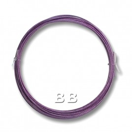 "Tanzanite coloured, nylon coated 0.45mm/.018"" Dia.7x1 Tigertail"