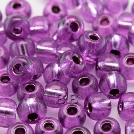 Violet Pink silver lined size 5/0 seed beads- Retail system