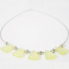 Wild Primrose Glass Bead Triangle Necklace