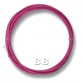 "7x1ROSE Rose coloured, nylon coated 0.45mm/.018"" Dia.7x1 Tigertail"