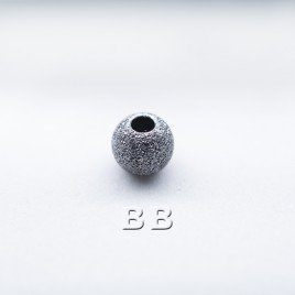 .925 Black Finish Sterling Silver 4mm Stardust Beads with 1.5mm Hole
