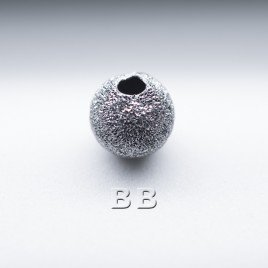 .925 Black Finish Sterling Silver 6mm Stardust Bead with 1.5mm Hole - Retail system