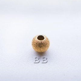 .925 Gold Finish 4mm Stardust Beads with 1.5mm Hole