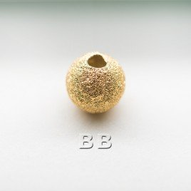 .925 Gold Finish 6mm Stardust Beads with 1.5mm Hole