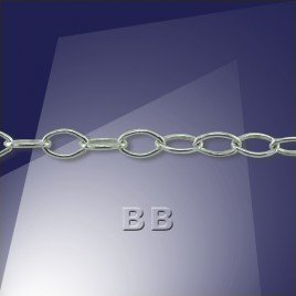 .925 Silver Trace Chain Oval 4x2.5mm Links