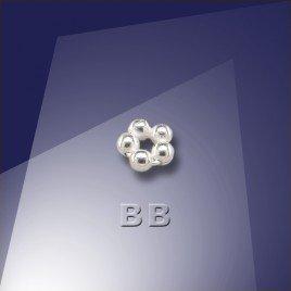 .925 Sterling Silver 1.5mm Penta Bead