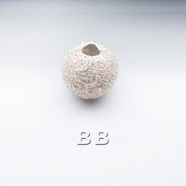 .925 Sterling Silver 6mm Stardust Bead with 1.5mm Hole