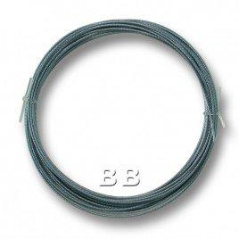 "Aquamarine coloured, nylon coated 0.45mm/.018"" Dia.7x1 Tigertail"