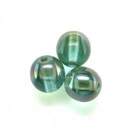 Blue Radiance 6mm round Czech glass druk beads - Retail system