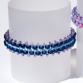 'Simple' Blueberry Czech Glass Seed Bead Colorway