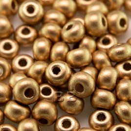 Brushed Gold Metallic size 5/0 seed beads - Retail system