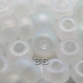 Clear matt rainbow size 32/0 seed beads - Retail system