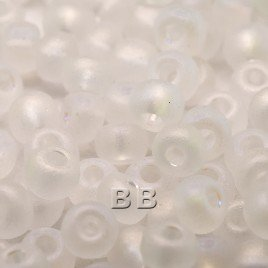 Clear matt rainbow size 5/0 seed beads- Retail system