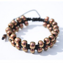 Copper Rose Macramé bracelet
