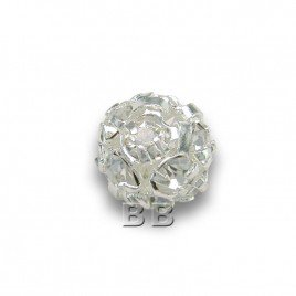 Crystal 6.0mm Silverplated Czech Crystal Rhinstone Ball