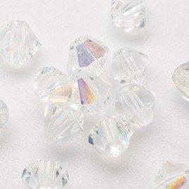 Czech Crystal Bohemica Bicone Bead 4mm Crystal (001) AB