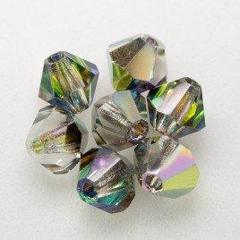 Czech Crystal Bohemica Bicone Bead 4mm Crystal (001) Vitrail