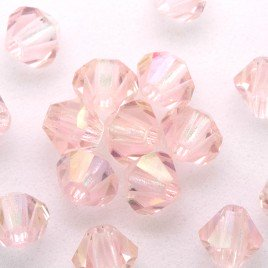 Czech Crystal Bohemica Bicone Bead 4mm Rosa (712) Radiance2