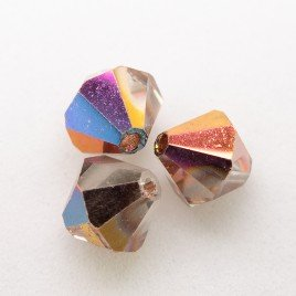 Czech Crystal Bohemica Bicone Bead 6mm Crystal (001) Mixed Copper