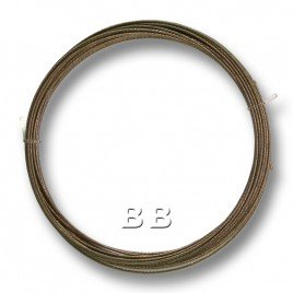 "Dark Bronze coloured, nylon coated 0.45mm/.018"" Dia.7x1 Tigertail"