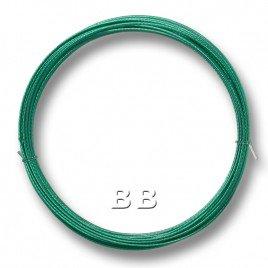 "Emerald coloured, nylon coated 0.45mm/.018"" Dia.7x1 Tigertail"