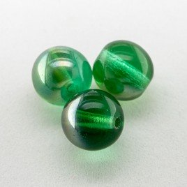 Fern Green 8mm round Czech glass druk beads