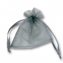 Grey Organza bags 100x125mm