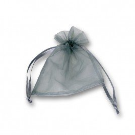 Grey Organza bags 76x100mm