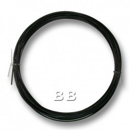 "Jet Black coloured, nylon coated 0.45mm/.018"" Dia.7x1 Tigertail"