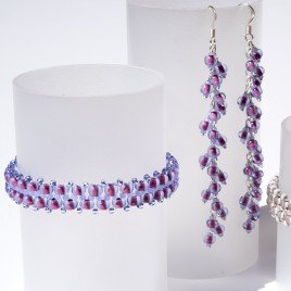 'Simple' Lavender Czech Glass Seed Bead Colorway