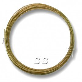 "Light Bronze coloured, nylon coated 0.45mm/.018"" Dia.7x1 Tigertail"