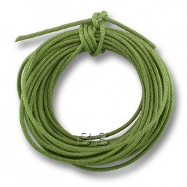 Light Olivine Polished Cotton Cord 1.00mm Dia