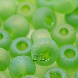 Lime matt rainbow size 32/0 seed beads - Retail system