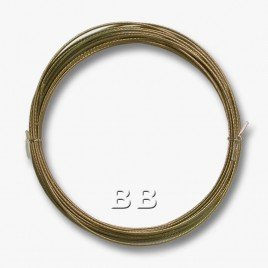 "Medium Bronze coloured, nylon coated 0.45mm/.018"" Dia.7x1 Tigertail"