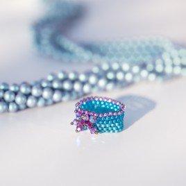 Mini Studio - Citrus Peyote Stitch Ring Bead Kit - Includes FREE Instructions