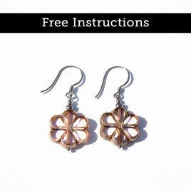 Mini Studio – Easy Florice Earrings – Free Earring Instructions
